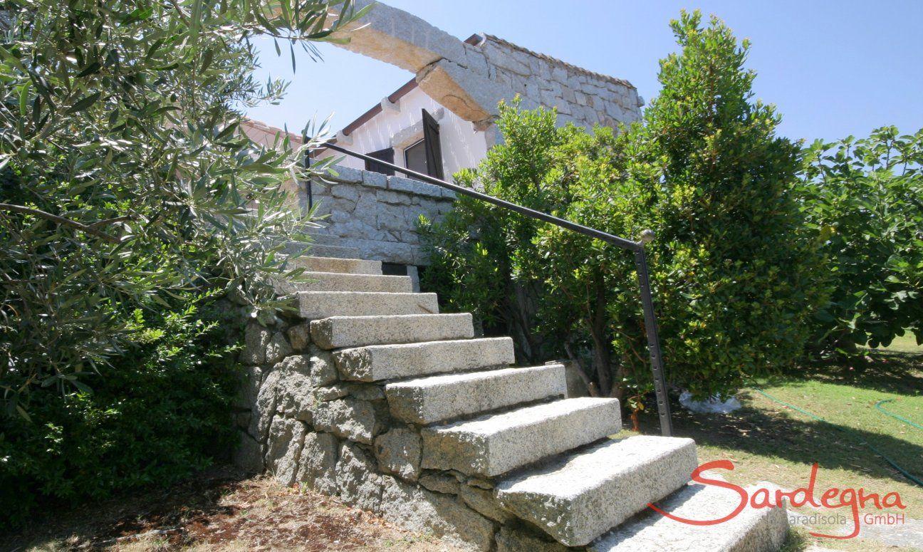 Treppe zum Garten  Casa 20, Sant Elmo