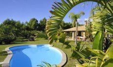 Pool, eingebettet in den gepflegten Garten