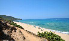 Strand Portixeddu and der Westküste Sardiniens