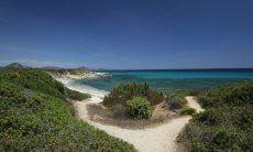 Sandweg zum Strand von Sant Elmo