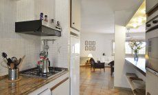 Küche mit Zugang zum Wohnrraum