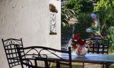 Essbereich auf der Terrasse, Detail