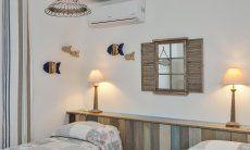 Liebevoll eingerichtetes Schlafzimmer 2 mit Einzelbetten