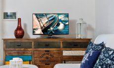 Sofaecke mit TV im Wohnbereich
