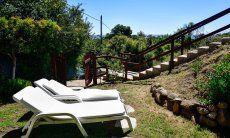 Garten von Castededdu 10 mit Sonnenliegen