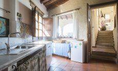 Rustikale, helle Küche