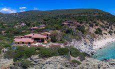 Ansicht der spektakulären Lage der Villa