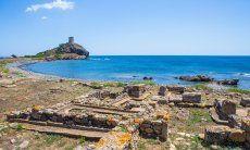 Ausgrabungsstätte Nora und spanischer Turm Sant Efisio