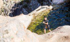 Trekking und Baden in den Bergen hinter San Teodoro