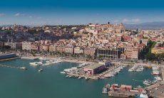 Cagliari Altstad und Hafen
