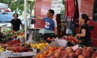 Großes Angebot an regionalem Obst und Gemüse