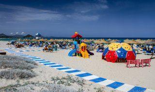 Strand Cala Sinzias Strandbad Tamatete