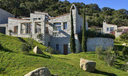 Hausansicht vom Ferienhaus Li Conchi 9, Cala Sinzias