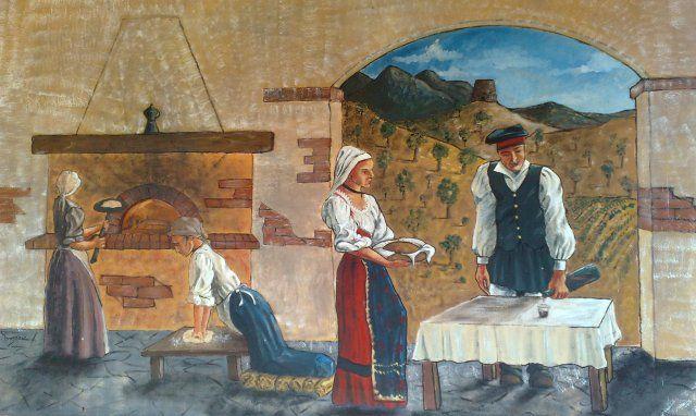 Traditionelles Brotbacken