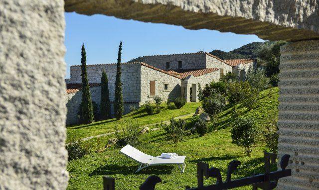 Blick von der Terrasse von Li Conchi 9, Cala Sinzias